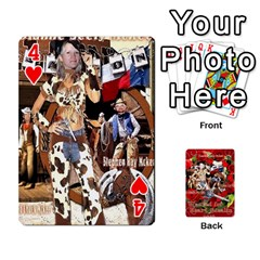 Stephen & Chase, Kiai , Hailly & Dianne Mckee Family s Cards By Pamela Sue Goforth   Playing Cards 54 Designs   Nfb9e3rbb6kv   Www Artscow Com Front - Heart4