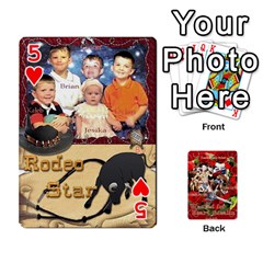 Stephen & Chase, Kiai , Hailly & Dianne Mckee Family s Cards By Pamela Sue Goforth   Playing Cards 54 Designs   Nfb9e3rbb6kv   Www Artscow Com Front - Heart5