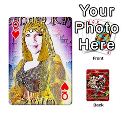 Queen Stephen & Chase, Kiai , Hailly & Dianne Mckee Family s Cards By Pamela Sue Goforth   Playing Cards 54 Designs   Nfb9e3rbb6kv   Www Artscow Com Front - HeartQ