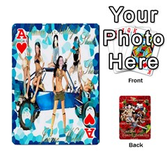Ace Stephen & Chase, Kiai , Hailly & Dianne Mckee Family s Cards By Pamela Sue Goforth   Playing Cards 54 Designs   Nfb9e3rbb6kv   Www Artscow Com Front - HeartA