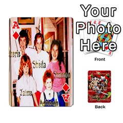 Ace Stephen & Chase, Kiai , Hailly & Dianne Mckee Family s Cards By Pamela Sue Goforth   Playing Cards 54 Designs   Nfb9e3rbb6kv   Www Artscow Com Front - DiamondA