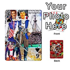 Stephen & Chase, Kiai , Hailly & Dianne Mckee Family s Cards By Pamela Sue Goforth   Playing Cards 54 Designs   Nfb9e3rbb6kv   Www Artscow Com Front - Spade6