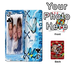 Jack Stephen & Chase, Kiai , Hailly & Dianne Mckee Family s Cards By Pamela Sue Goforth   Playing Cards 54 Designs   Nfb9e3rbb6kv   Www Artscow Com Front - ClubJ