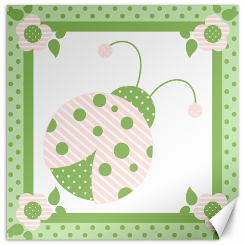 Ladybug Wall Art Pink By Andreas Lil Pixels   Canvas 12  X 12    Suh2x3w51phz   Www Artscow Com 12 x12 Canvas - 1