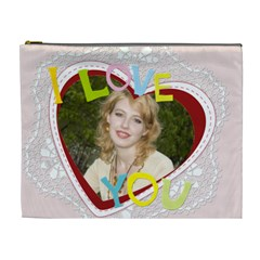 I Love You By Joely   Cosmetic Bag (xl)   Ojpacotpibhc   Www Artscow Com Front