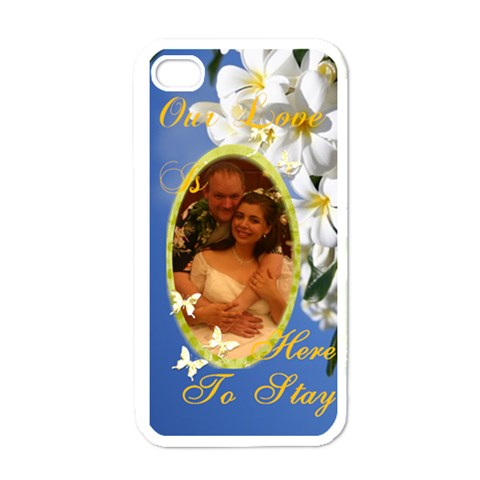 Our Love Is Here To Stay By Robin Mersereau   Apple Iphone 4 Case (white)   Af6b7hkhwbx5   Www Artscow Com Front