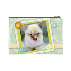 Cat By Wood Johnson   Cosmetic Bag (large)   Jiox6pzorocg   Www Artscow Com Back