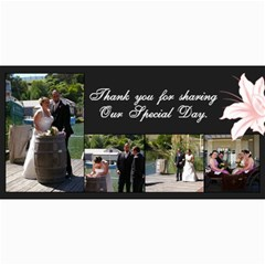 Thank You Cards By Jo   4  X 8  Photo Cards   Zryvnbln56zw   Www Artscow Com 8 x4 Photo Card - 1