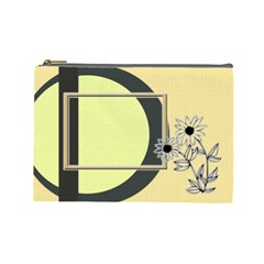 Sunflower L Cosmetic Bag By Daniela   Cosmetic Bag (large)   Kc57ume6dj5e   Www Artscow Com Front