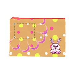 Hunny Bunny L Cosmetic Bag By Daniela   Cosmetic Bag (large)   We30mx42yz8a   Www Artscow Com Front
