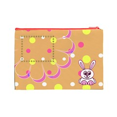 Hunny Bunny L Cosmetic Bag By Daniela   Cosmetic Bag (large)   We30mx42yz8a   Www Artscow Com Back