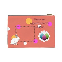 Eggstra Special Easter L Cosmetic Bag By Daniela   Cosmetic Bag (large)   Srph7t2i2g98   Www Artscow Com Back