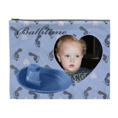 Bathtime Boy Xl Cosmetic Bag By Deborah   Cosmetic Bag (xl)   Z15636ls7b3r   Www Artscow Com Front