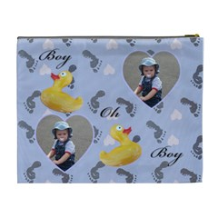 Bathtime Boy Xl Cosmetic Bag By Deborah   Cosmetic Bag (xl)   Z15636ls7b3r   Www Artscow Com Back