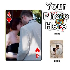 Kris And Kami s Wedding By Snackpackgu   Playing Cards 54 Designs   S7m25gbk2hns   Www Artscow Com Front - Heart4