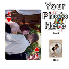 Kris And Kami s Wedding By Snackpackgu   Playing Cards 54 Designs   S7m25gbk2hns   Www Artscow Com Front - Heart5