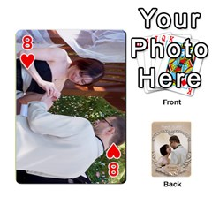 Kris And Kami s Wedding By Snackpackgu   Playing Cards 54 Designs   S7m25gbk2hns   Www Artscow Com Front - Heart8
