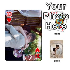 Kris And Kami s Wedding By Snackpackgu   Playing Cards 54 Designs   S7m25gbk2hns   Www Artscow Com Front - Heart10