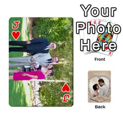 Jack Kris And Kami s Wedding By Snackpackgu   Playing Cards 54 Designs   S7m25gbk2hns   Www Artscow Com Front - HeartJ