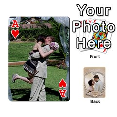 Ace Kris And Kami s Wedding By Snackpackgu   Playing Cards 54 Designs   S7m25gbk2hns   Www Artscow Com Front - HeartA