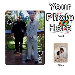 Kris And Kami s Wedding By Snackpackgu   Playing Cards 54 Designs   S7m25gbk2hns   Www Artscow Com Front - Spade5