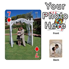 Kris And Kami s Wedding By Snackpackgu   Playing Cards 54 Designs   S7m25gbk2hns   Www Artscow Com Front - Diamond7