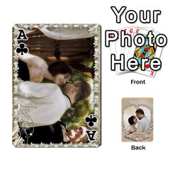 Ace Kris And Kami s Wedding By Snackpackgu   Playing Cards 54 Designs   S7m25gbk2hns   Www Artscow Com Front - ClubA