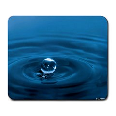 Water Drop Large Mousepad by knknjkknjdd