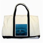 Water Drop Two Tone Tote Bag Front