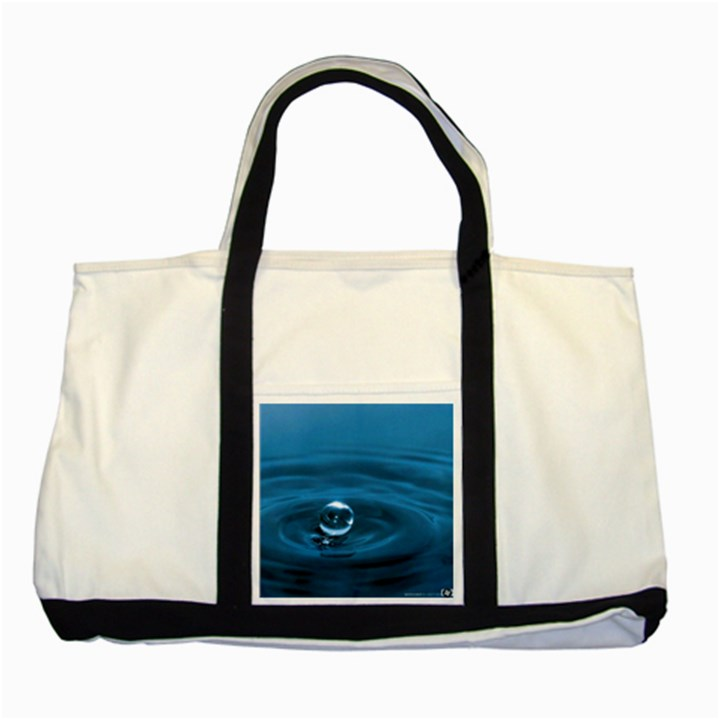 Water Drop Two Tone Tote Bag