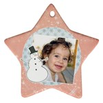 Snowman ornament-star (2 sides) - Star Ornament (Two Sides)