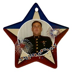 Hero/military Ornament  Star (2 Sides) By Mikki   Star Ornament (two Sides)   Cdez8dj607g2   Www Artscow Com Back