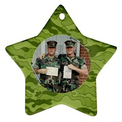 Camouflage Ornament Star (2 Sides) By Mikki   Star Ornament (two Sides)   6ppp52k0s9wt   Www Artscow Com Front