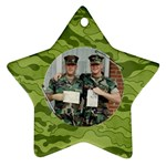 Camouflage ornament-star (2 sides) - Star Ornament (Two Sides)