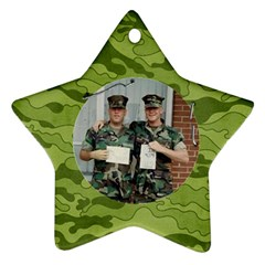Camouflage Ornament Star (2 Sides) By Mikki   Star Ornament (two Sides)   6ppp52k0s9wt   Www Artscow Com Back
