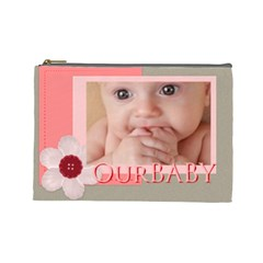 Our Baby By Joely   Cosmetic Bag (large)   Zdkbhmqxfaqh   Www Artscow Com Front