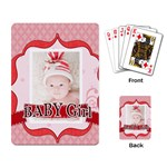 baby girl - Playing Cards Single Design