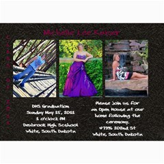 Shelly Grad Invite By Pam   5  X 7  Photo Cards   8f3bu18szn61   Www Artscow Com 7 x5 Photo Card - 8