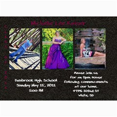 Shelly Grad Invite3 By Pam   5  X 7  Photo Cards   Pc3s0csnvp80   Www Artscow Com 7 x5 Photo Card - 8