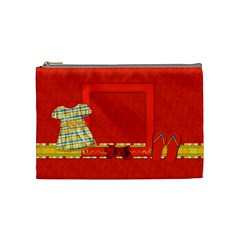 Sunshine Beach Medium Cosmetic Bag 1 by Lisa Minor Front