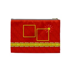 Sunshine Beach Medium Cosmetic Bag 1 By Lisa Minor   Cosmetic Bag (medium)   Zkftshtx8994   Www Artscow Com Back