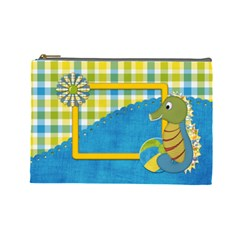 Sunshine Beach Large Cosmetic Bag 1 By Lisa Minor   Cosmetic Bag (large)   Ycbxx7451bpl   Www Artscow Com Front