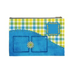 Sunshine Beach Large Cosmetic Bag 1 By Lisa Minor   Cosmetic Bag (large)   Ycbxx7451bpl   Www Artscow Com Back
