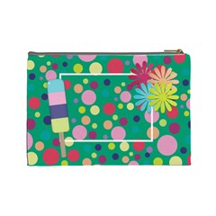 Picadilly Summer Large Cosmetic Bag 1 By Lisa Minor   Cosmetic Bag (large)   Efweie4rjyr2   Www Artscow Com Back