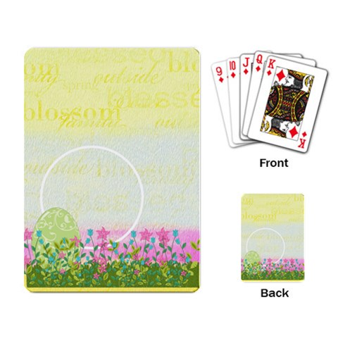 Eggzactly Spring Playing Cards 2 By Lisa Minor   Playing Cards Single Design   X8yu3mvavyib   Www Artscow Com Back