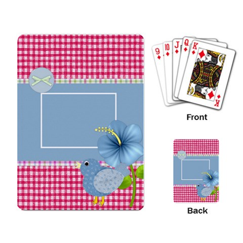 Eggzactly Spring Playing Cards 3 By Lisa Minor   Playing Cards Single Design   W7jk91pk256h   Www Artscow Com Back