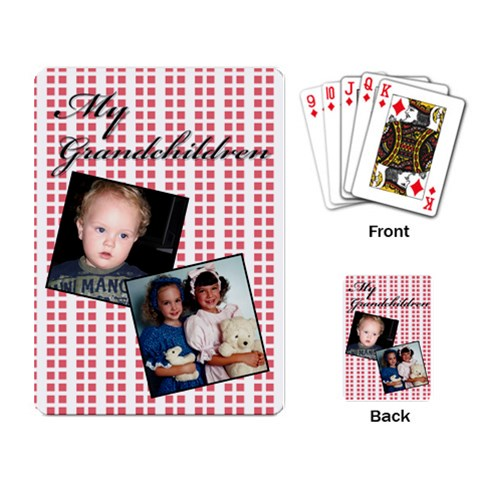 My Grandchildren Playing Cards By Deborah   Playing Cards Single Design   3wfef0hw2zvq   Www Artscow Com Back