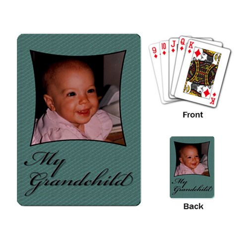 My Grandchild Playing Card By Deborah   Playing Cards Single Design   Dyf4gimj8vww   Www Artscow Com Back
