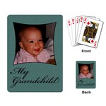 My Grandchild playing card - Playing Cards Single Design
