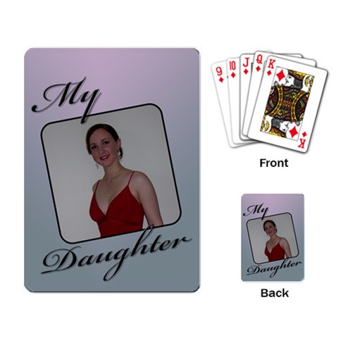 My Daughter Playing Cards By Deborah   Playing Cards Single Design   Y8jl4p69k9hp   Www Artscow Com Back